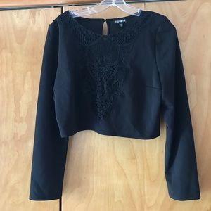 Beautiful black crop top, new with tags